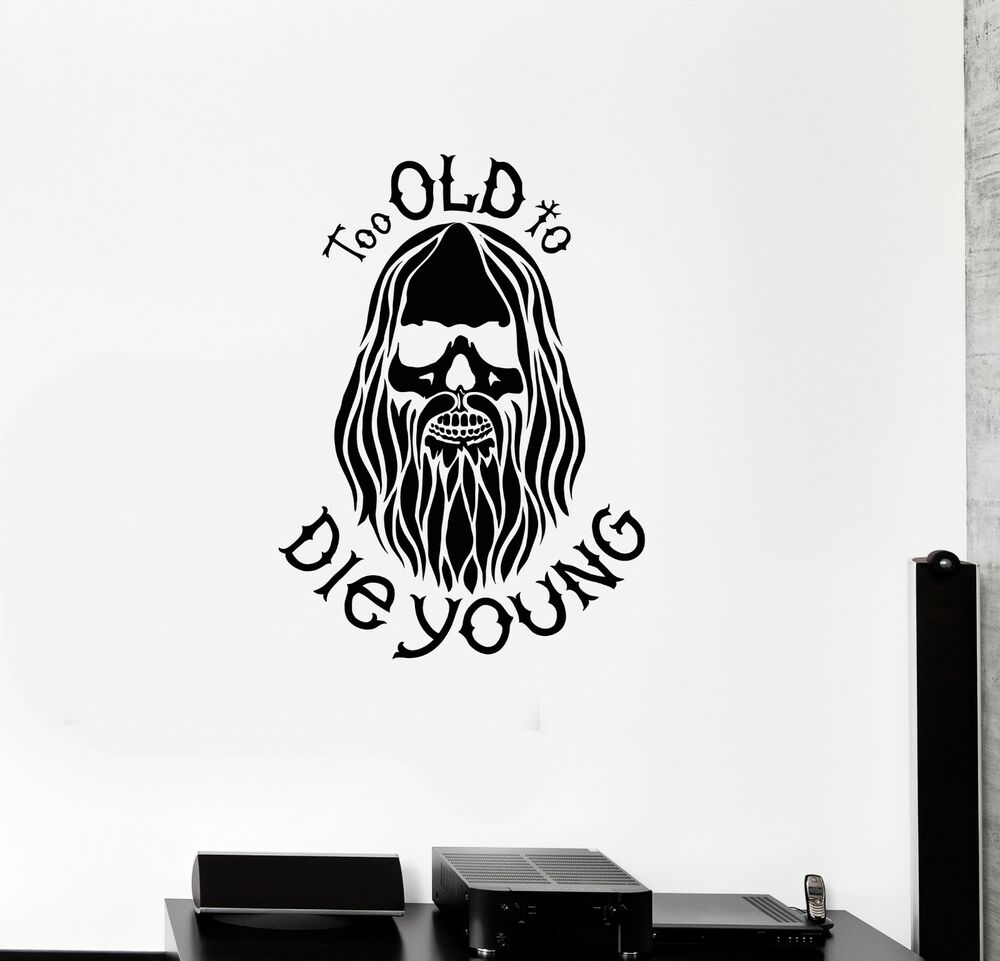 Details about vinyl decal bearded hippie peace man weed decor wall stickers mural ig3343