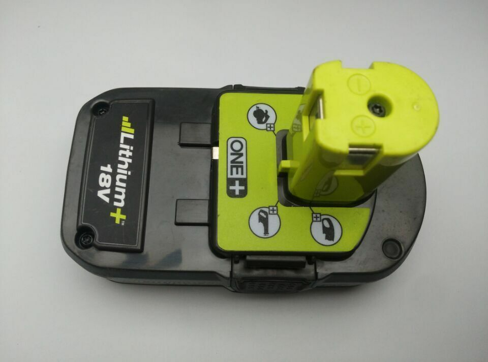 ryobi p107 18v one plus li ion cordless tool battery tested very good ebay. Black Bedroom Furniture Sets. Home Design Ideas