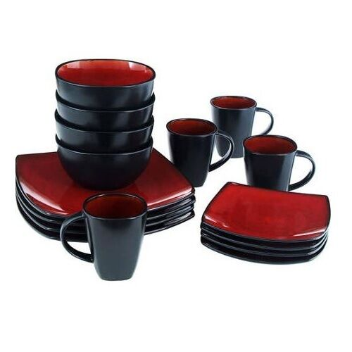 square dinnerware set dinner plates mugs dishes bowls
