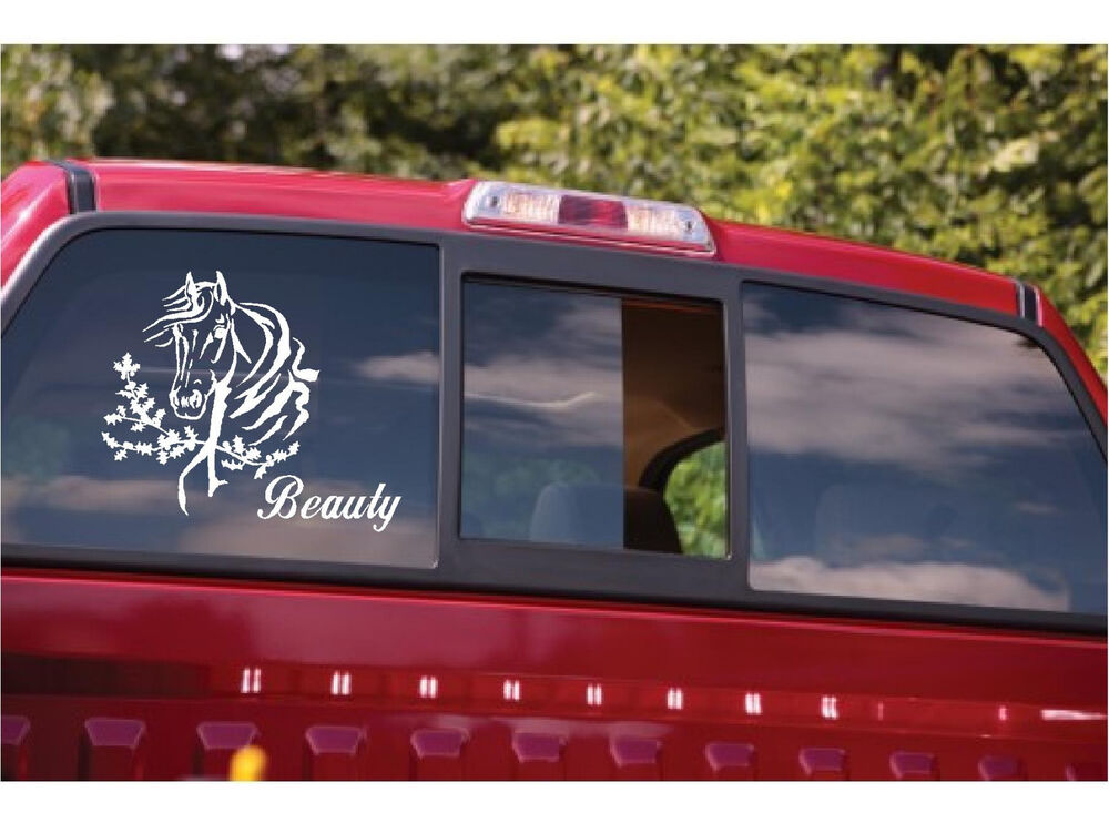 Personalized horses name sticker horse trailer truck for Window horses