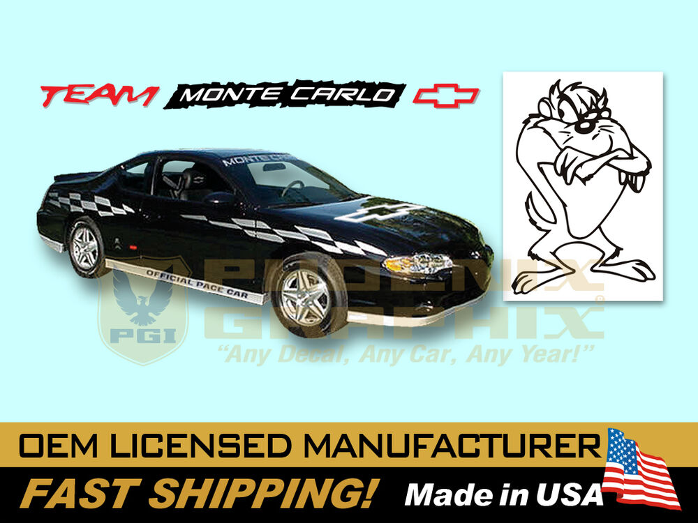 Details About 2000 2001 2002 2003 Monte Carlo Ss Super Sport Pace Car Fader Decals Stripes Kit