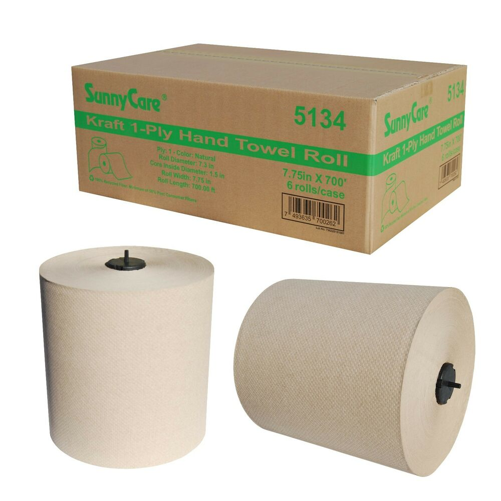 "Paper Towel Rolls For Hamsters: 7.75'' Kraft 1-Ply Paper Hand Towel Roll 7.75""x700' 6"