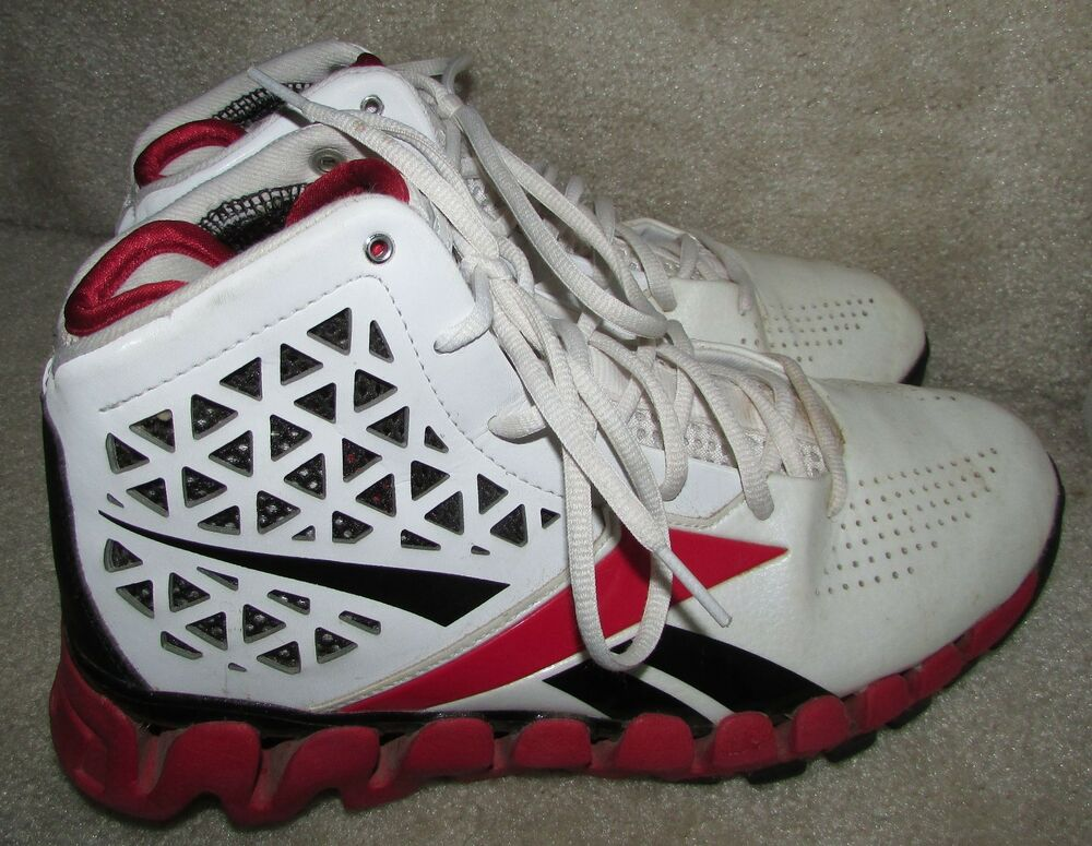 reebok zigtech zigslash white red black basketball shoes. Black Bedroom Furniture Sets. Home Design Ideas