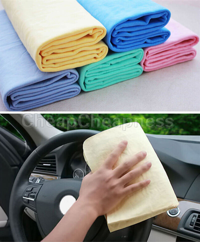 Microfiber Cloth Or Chamois: Synthetic Chamois Leather Car Cleaning Cloth Washing Suede