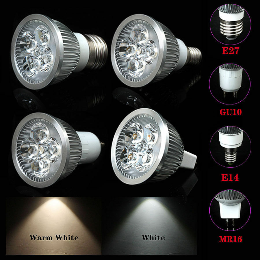 high power e27 e14 gu10 mr16 3w 4w 5w led spot light bulbs white warm white lamp ebay. Black Bedroom Furniture Sets. Home Design Ideas