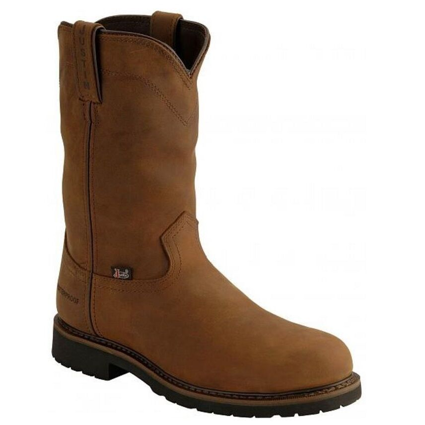 Justin Mens Wyoming Brown Steel Toe Boot Wk4961 Ebay