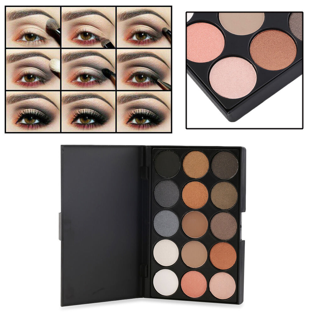 Professional 15 Colors Matte Shimmer Eyeshadow Palette ...