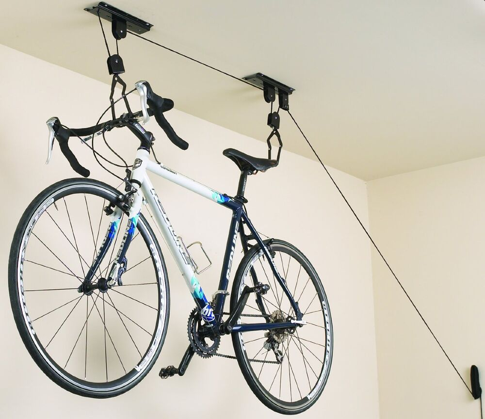 New Bicycle Bike Lift Racor Garage Ceiling Mount Storage ...