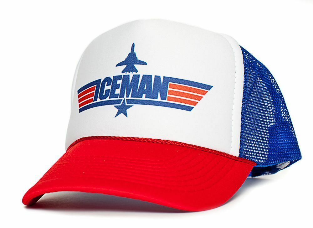 Top Gun Hat New Iceman Dist...