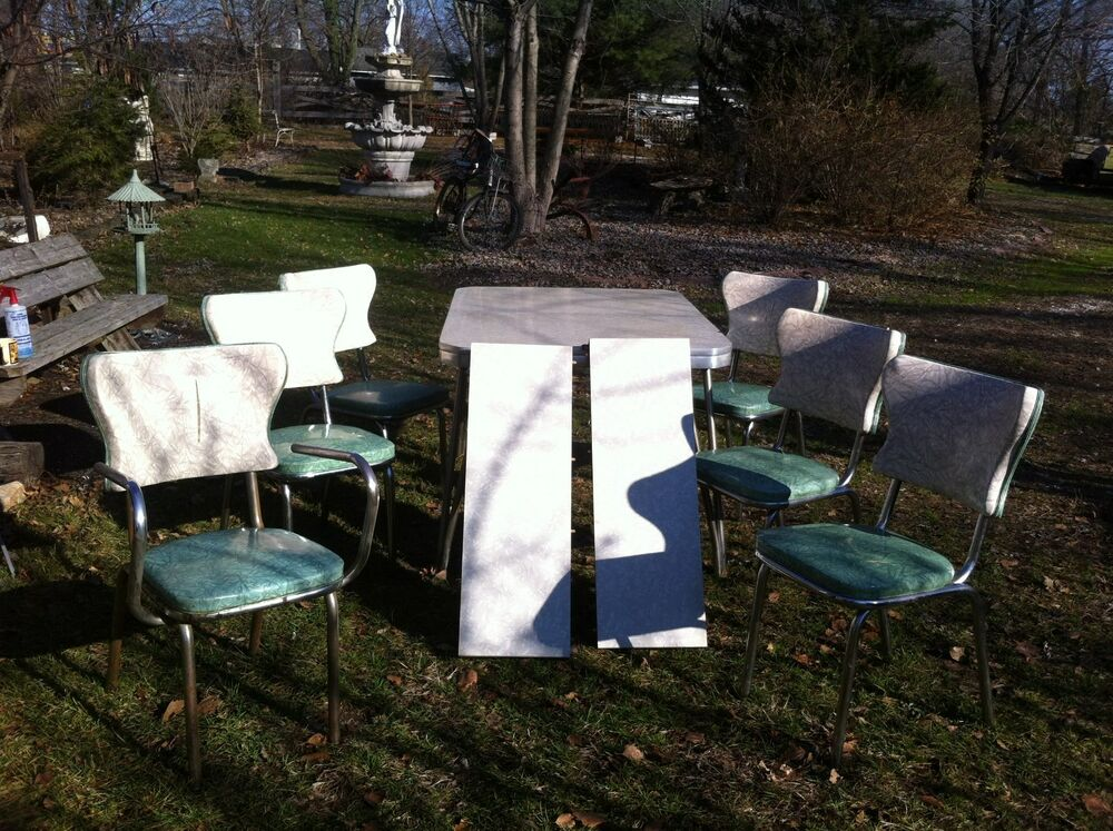 1950 S Vintage Kitchen And Table Chair Set Usa Cracked