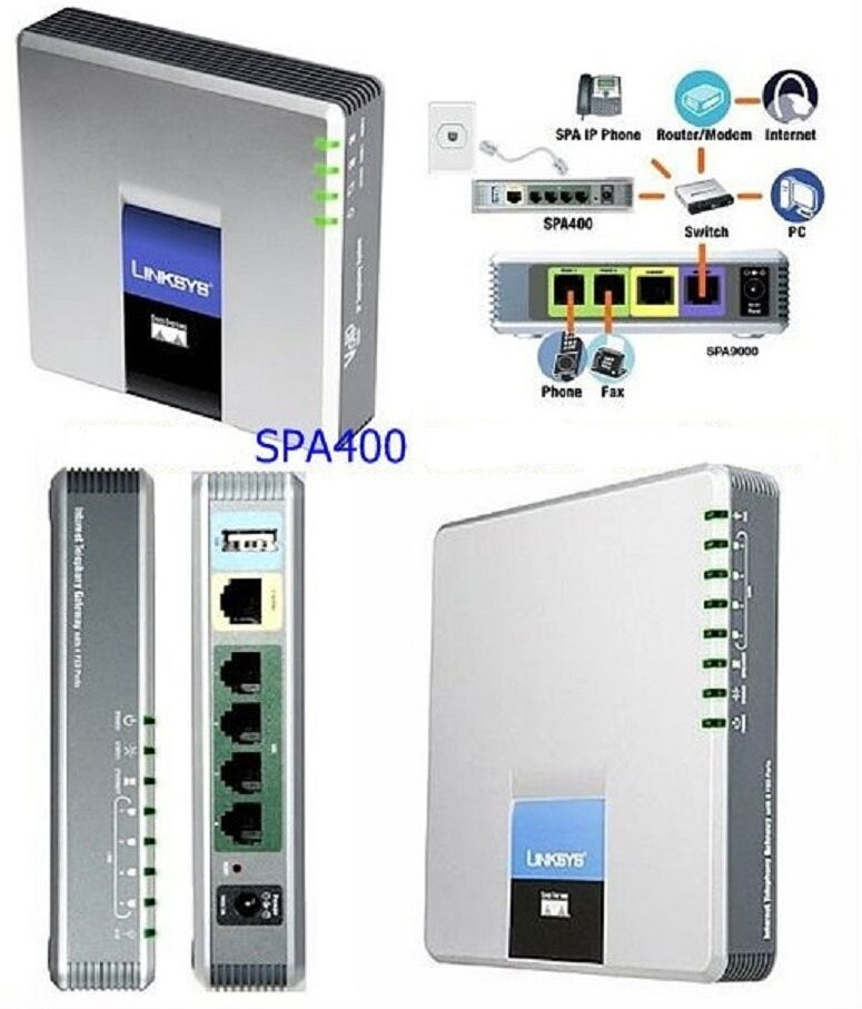 Linksys SPA400 4 FXO gateway Voicemail for SPA9000 FreePBX