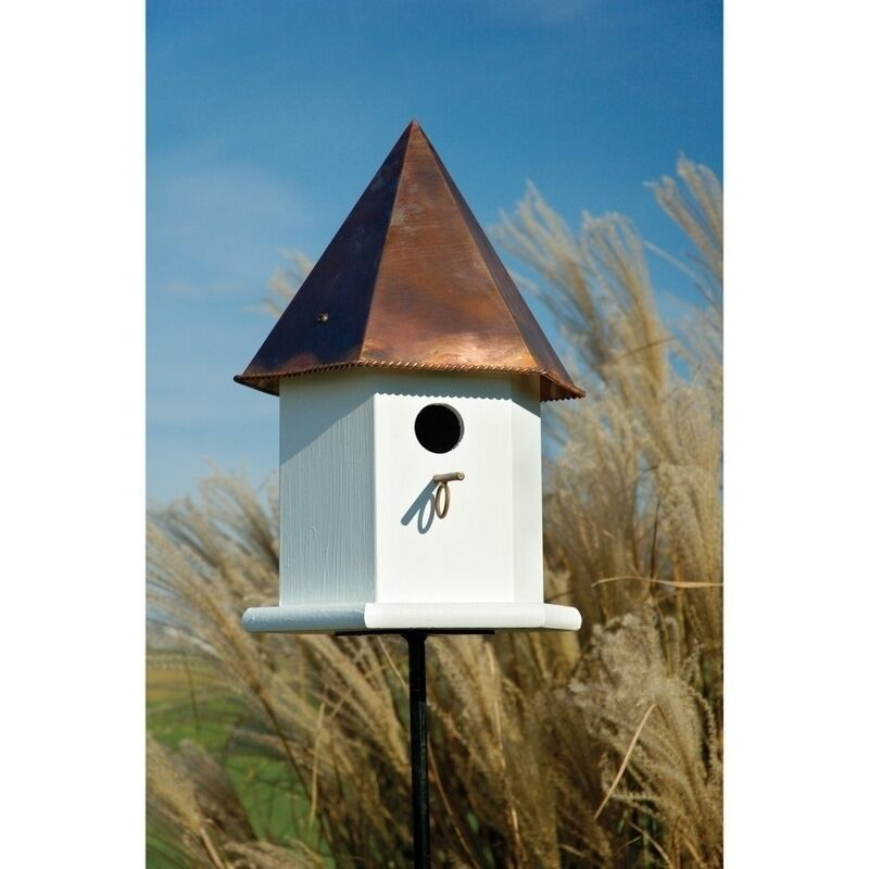 Heartwood Copper Songbird Deluxe Bird House White W