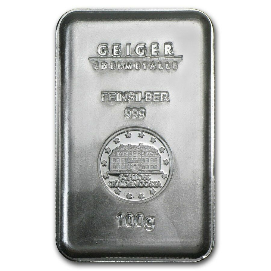 100 Gram Geiger Security Line Silver Bar Sku 74695 Ebay