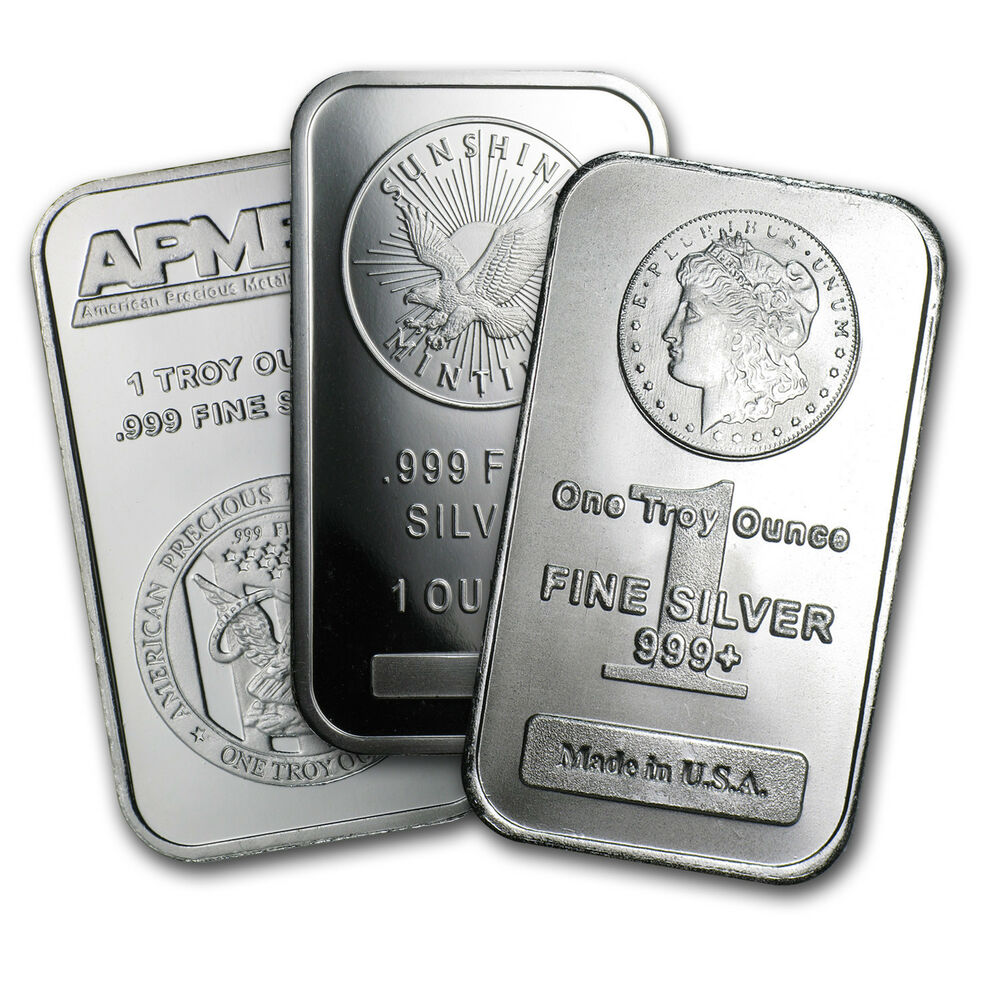 1 Troy Oz 999 Fine Silver Bar