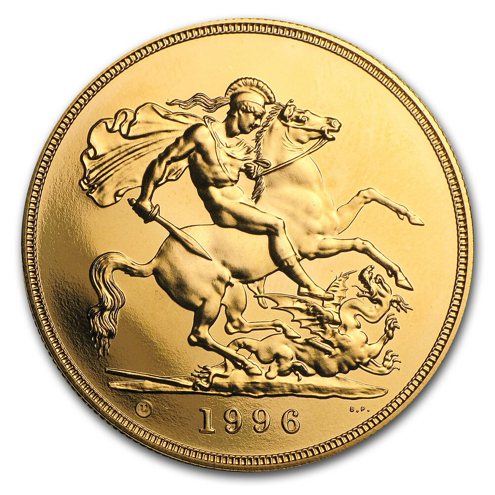 Great Britain 5 Pounds Gold Coin Random Year Proof Or