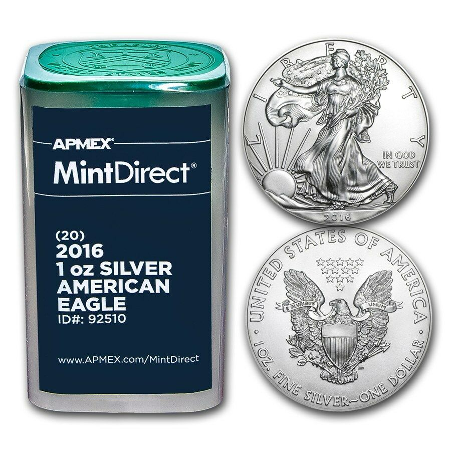 2016 1 Oz Silver American Eagles 20 Coin Mintdirect 174 Tube