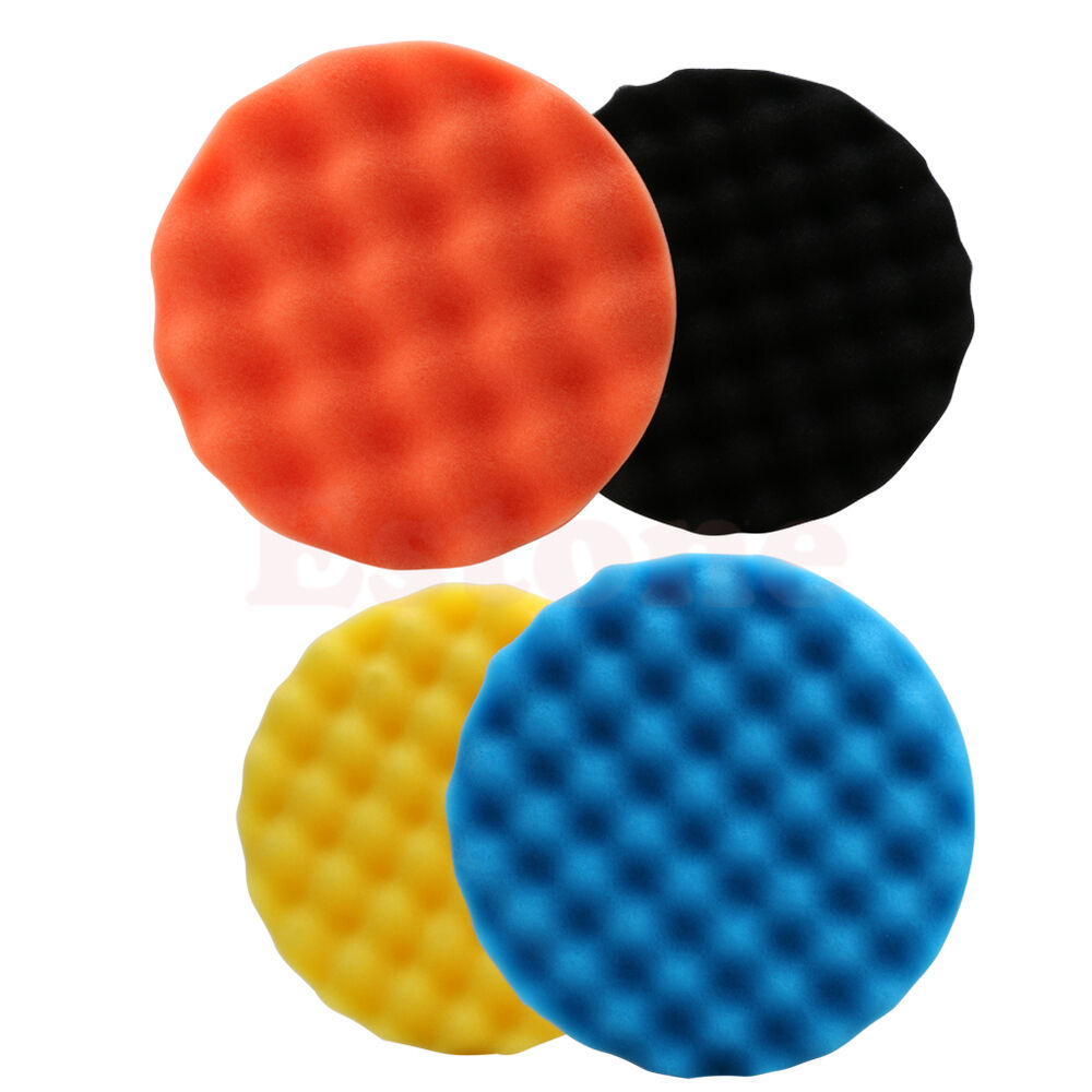 New 4Pcs 6 Inch (150mm) Buffing Polishing Sponge Pad Kit