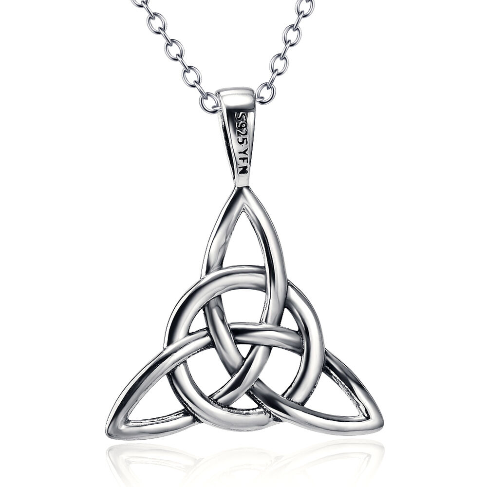 925 sterling silver triquetra good luck knot celtic irish. Black Bedroom Furniture Sets. Home Design Ideas