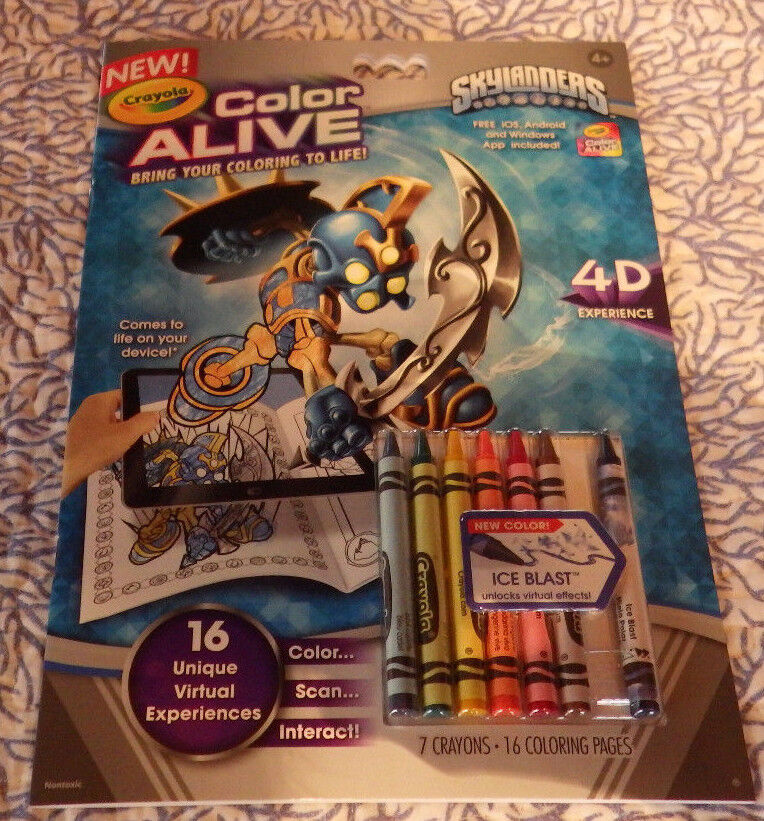 Skylanders crayola color alive action coloring pages book for Crayola color alive action coloring pages mythical creatures