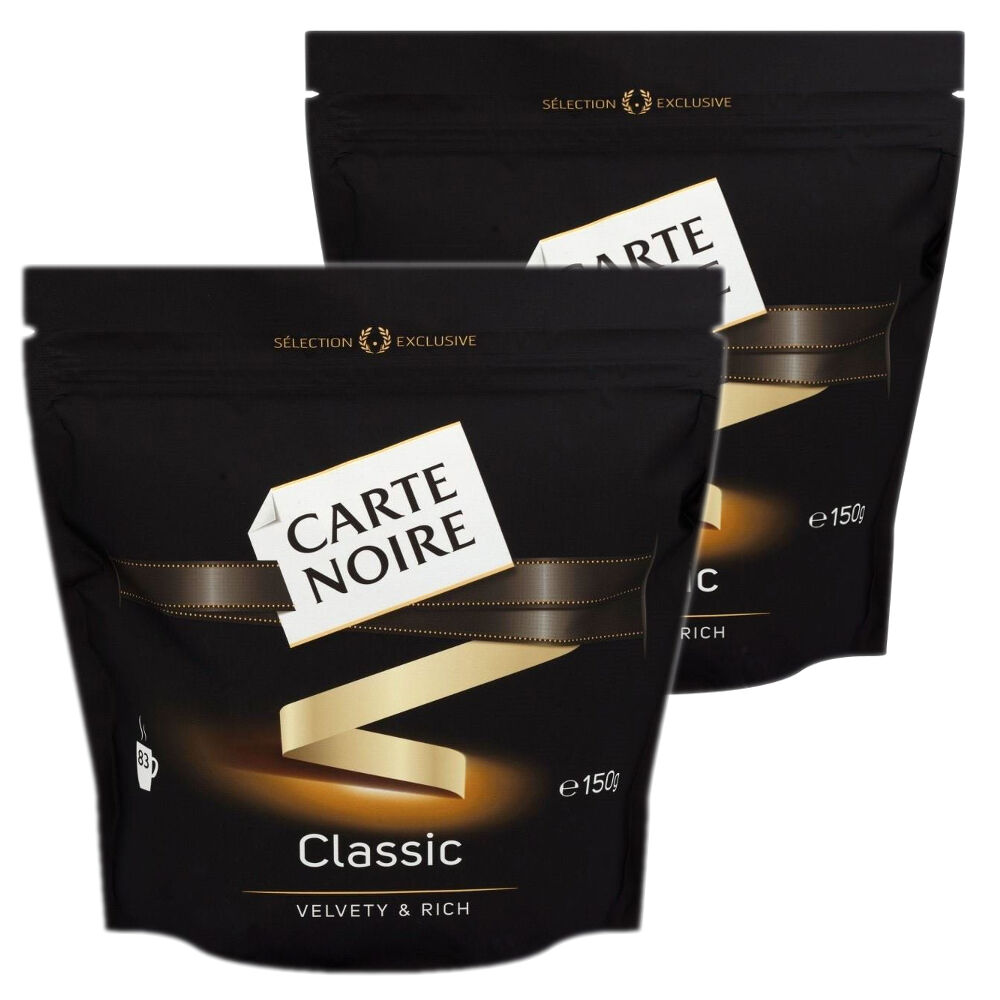 2 carte noire classic instant coffee 150g 5 oz total 300g 166 servings ebay. Black Bedroom Furniture Sets. Home Design Ideas
