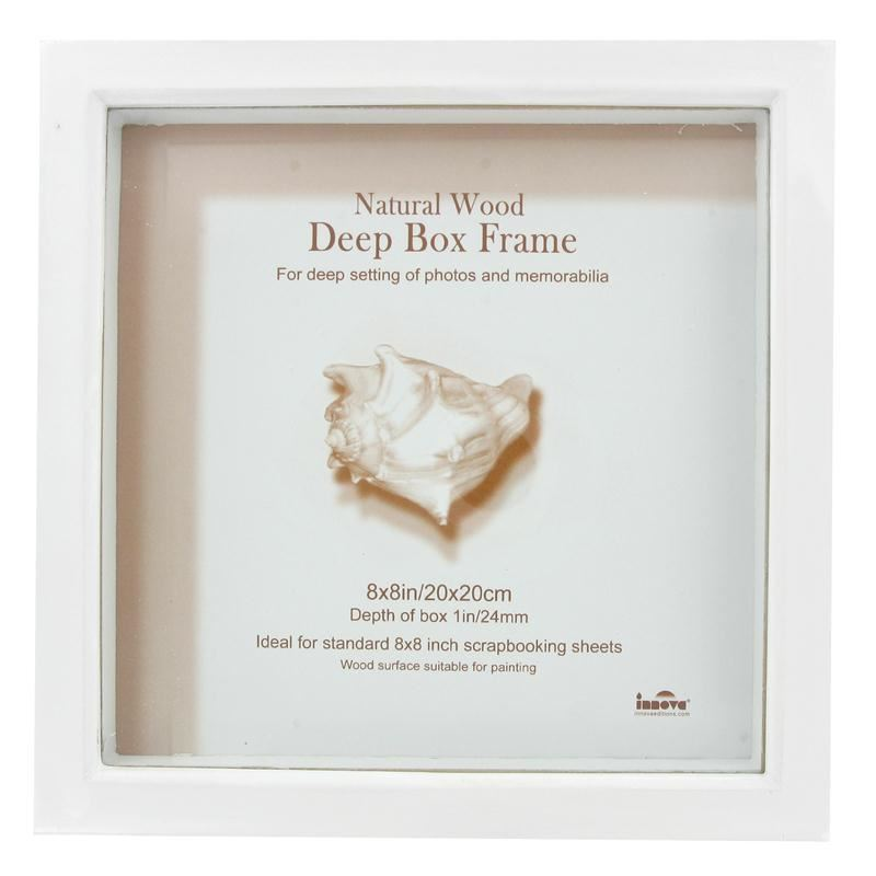 Innova Editions White Deep Memory Box Frame 20x20 Cm