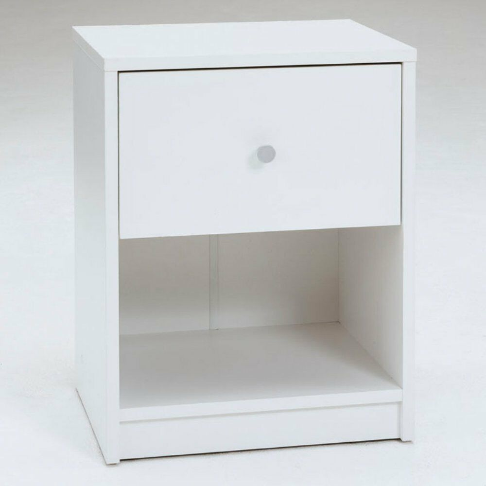 Tvilum Portland 1 Drawer Contemporary Nightstand In White