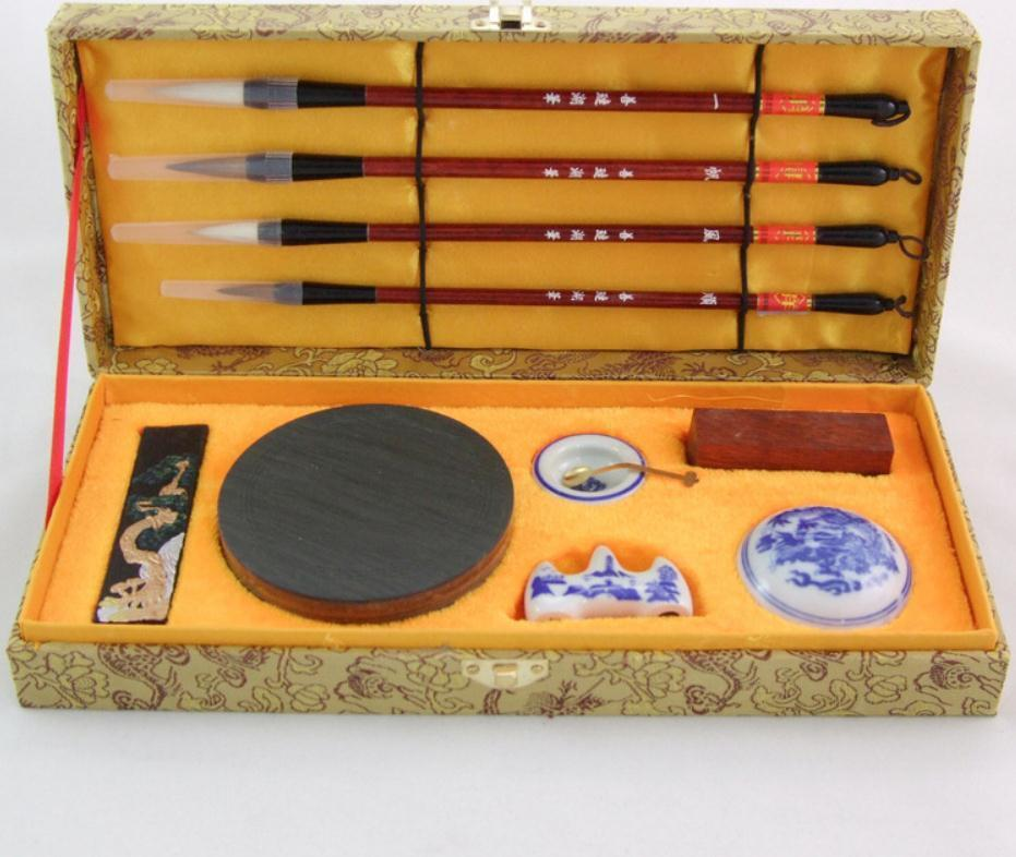 10 Things Chinese Calligraphy Set Brushes Ink Case Writing