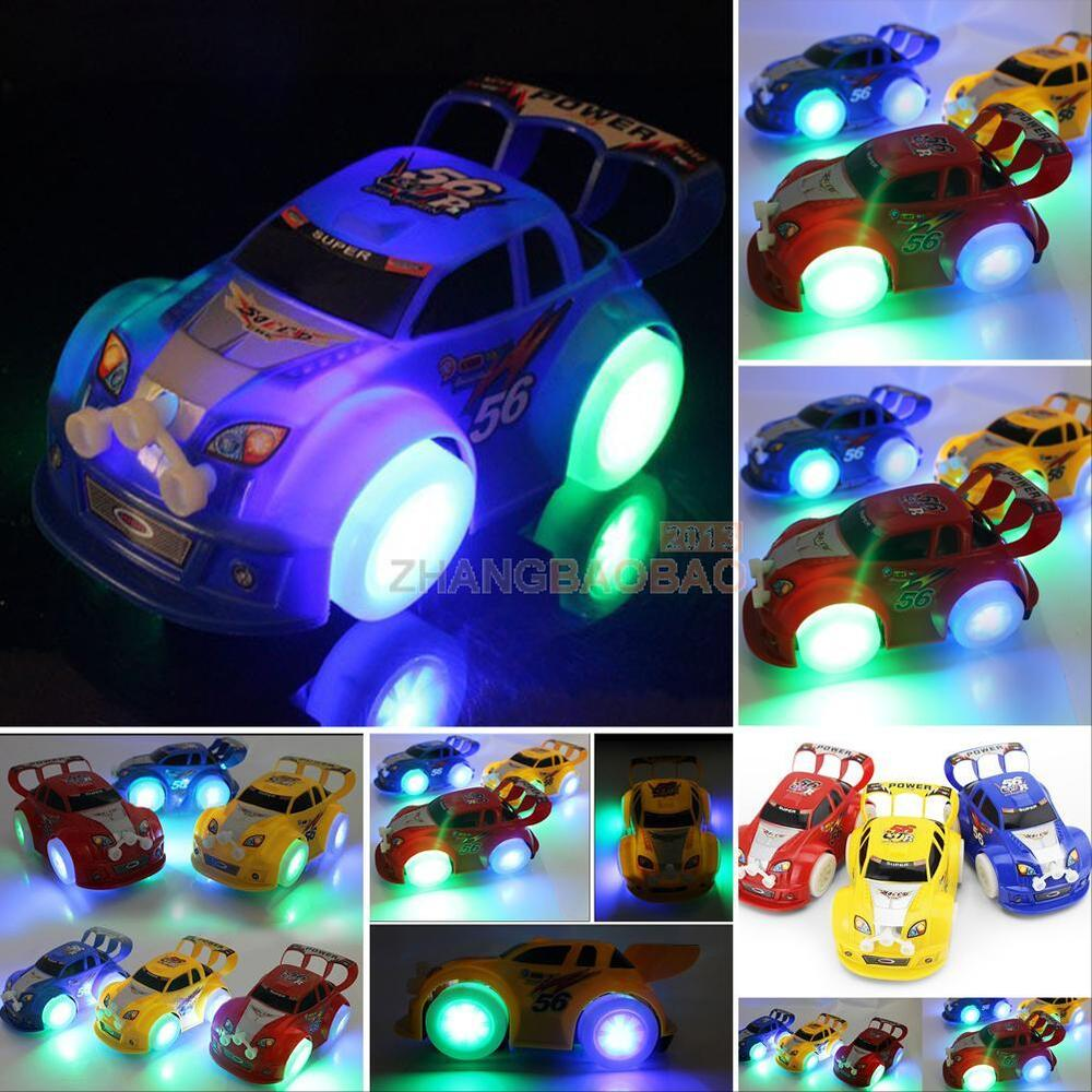 Funny Flashing Music Racing Car Electric Automatic Toy Boy