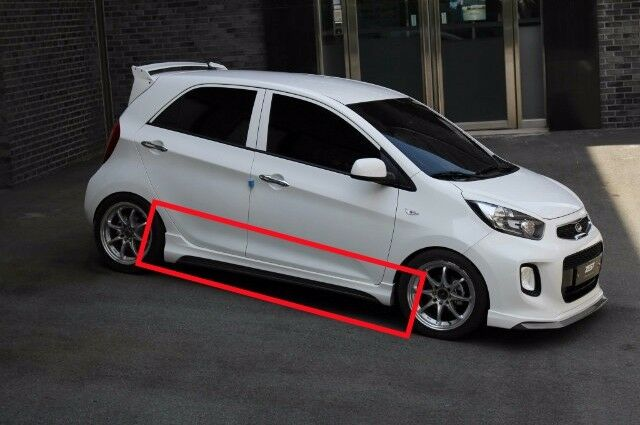 zest aero parts side skirts unpainted for kia picanto 2016 2017 ebay. Black Bedroom Furniture Sets. Home Design Ideas