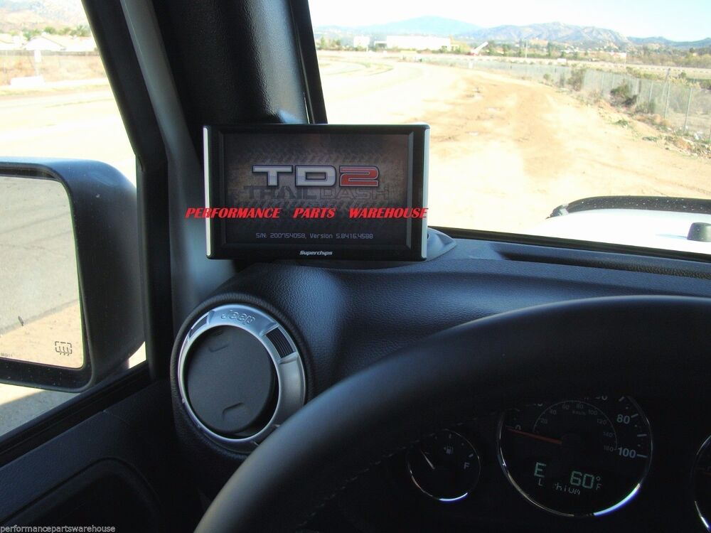 Best Jeep Accessories >> SUPERCHIPS TRAILDASH TD2 w/ PILLAR MOUNT 11-14 JEEP ...