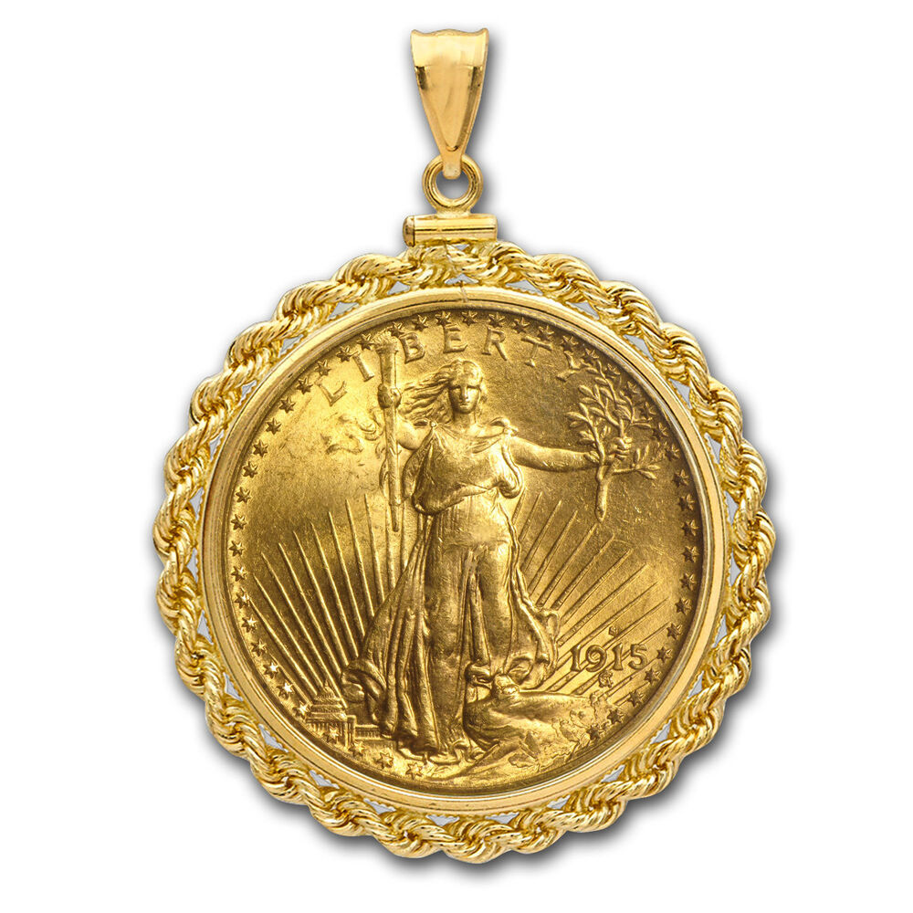 20 St Gaudens Gold Double Eagle Pendant Rope Screwtop