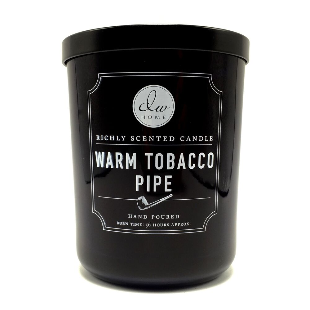 dw home warm pipe tobacco richly scented candle double wick 15 oz 56 hours ebay. Black Bedroom Furniture Sets. Home Design Ideas