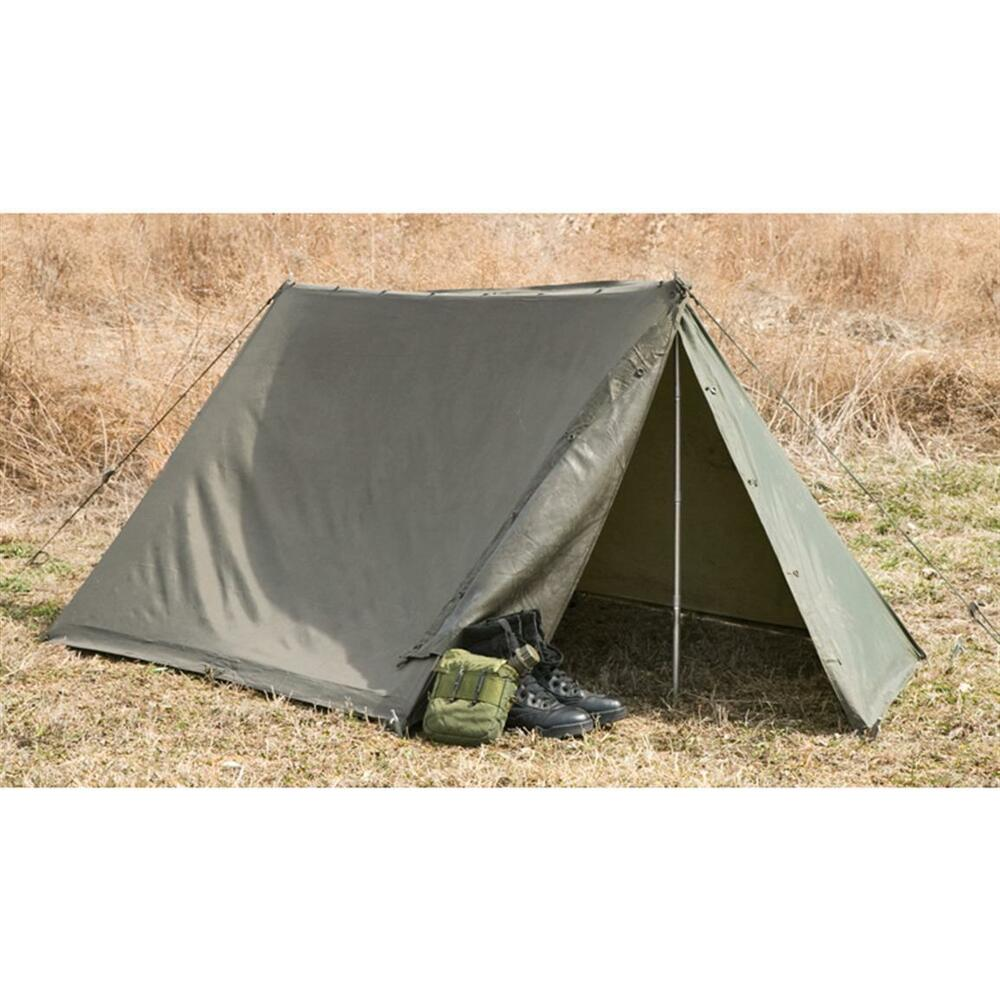 Military Shelter Half One 1 Lean To Pup Tent For Compact