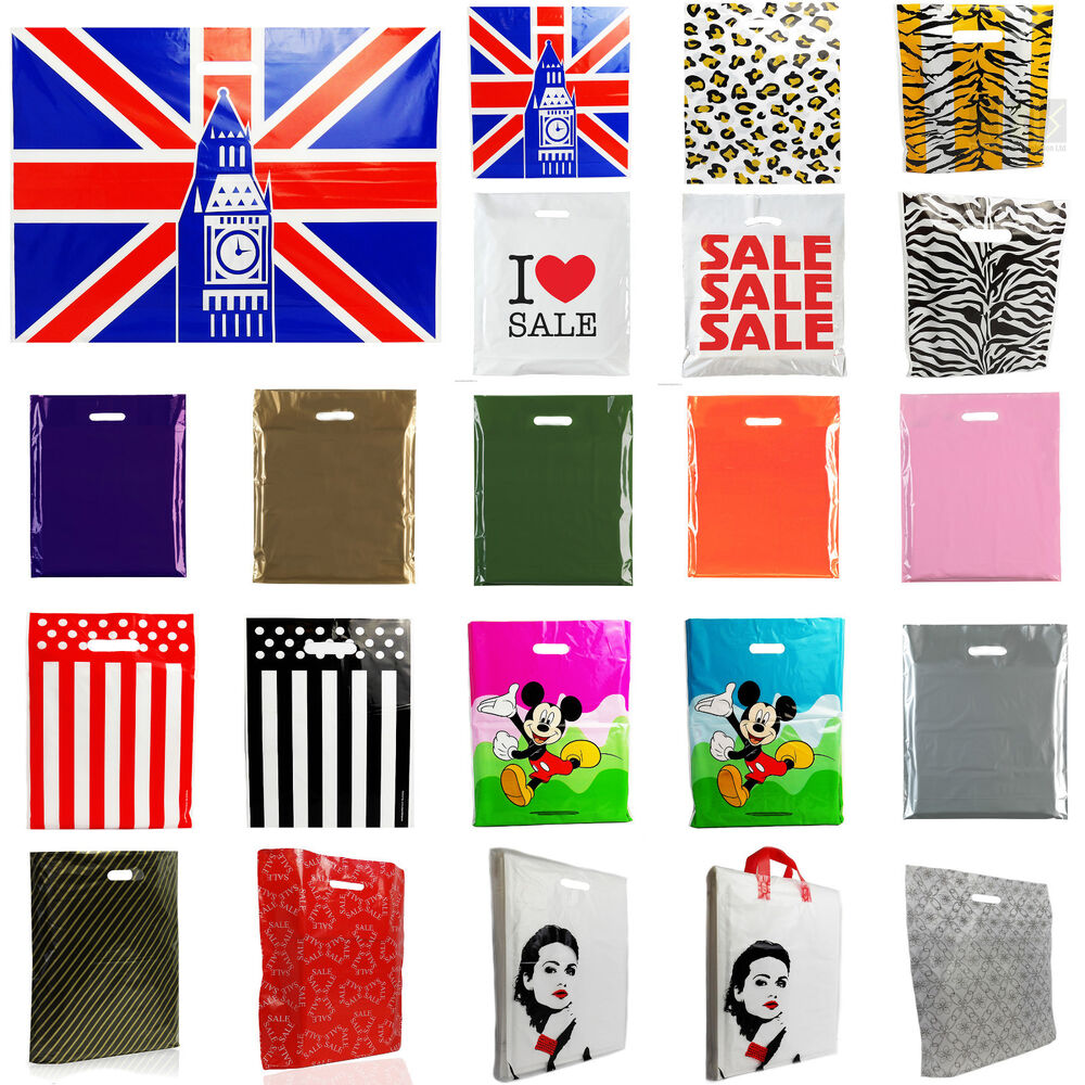 Plastic Carrier Bag Modern Printed Strong Gift Shopping