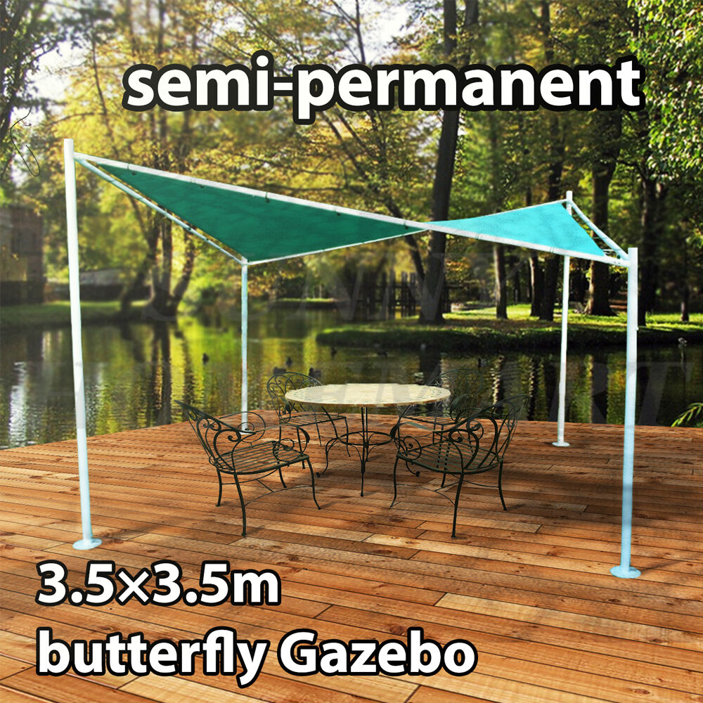 New 3 5m X 3 5m Butterfly Gazebo Party Tent Marquee