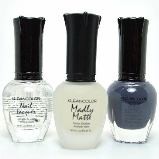 3pc Kleancolor Nail Polish Top Coat, Madly Matte Clear
