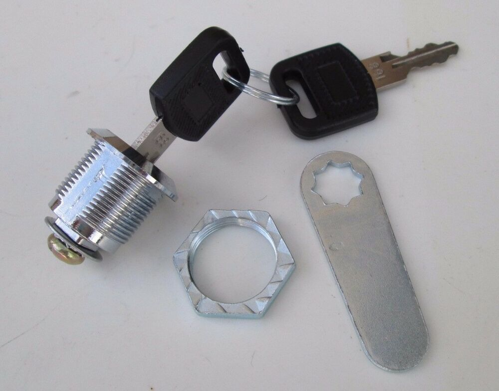 Keyed cam lock for tool boxes cabinets mailbox drawers keyed lock ebay for Cam lock kitchen cabinets
