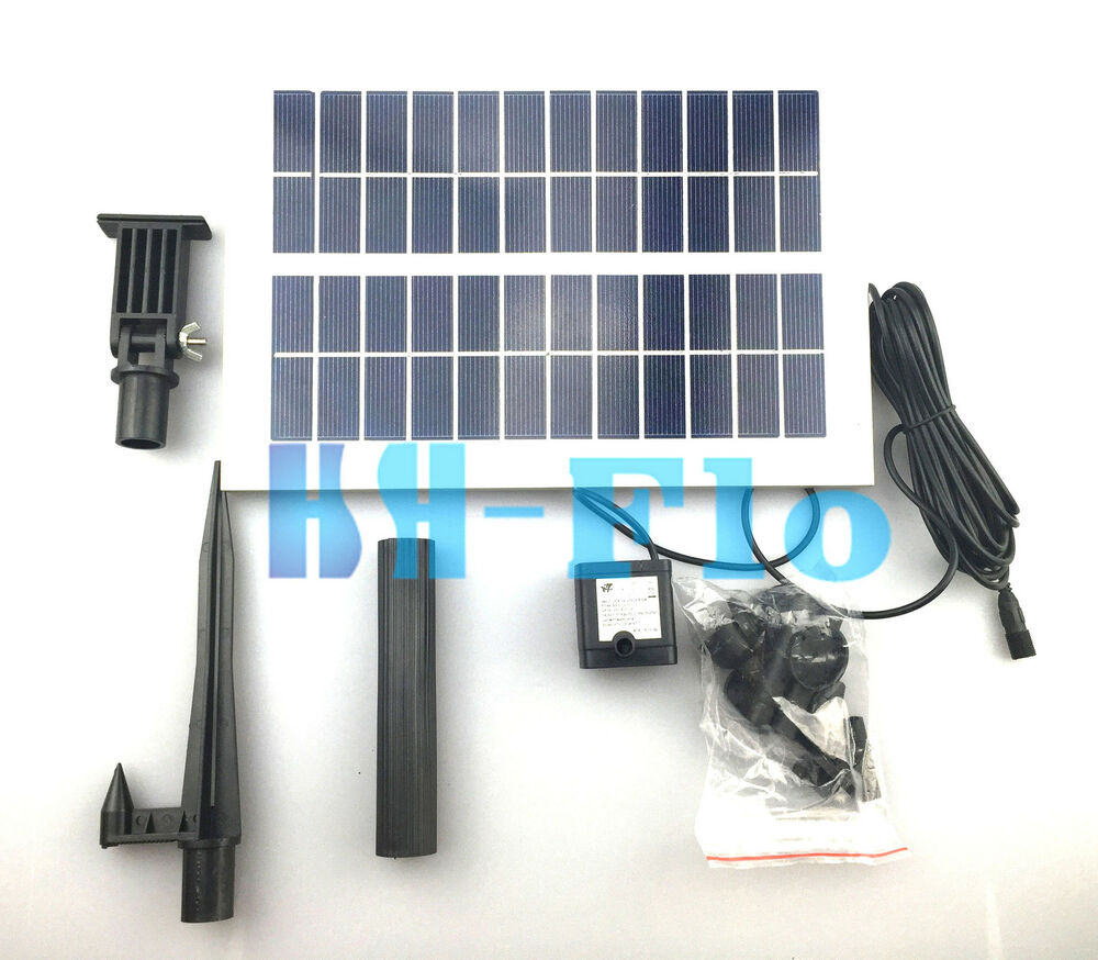 5w 400lph Brushless Solar Motor Power Garden Fountain Pond Pool Water Fish Pump Ebay