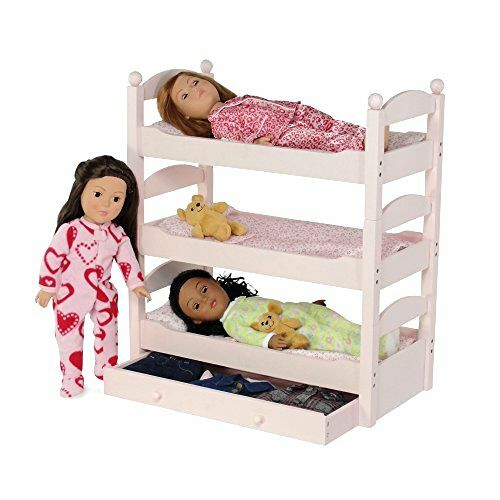 american girl bunk bed stackable wooden bunk bed with trundle amp linens for 11830