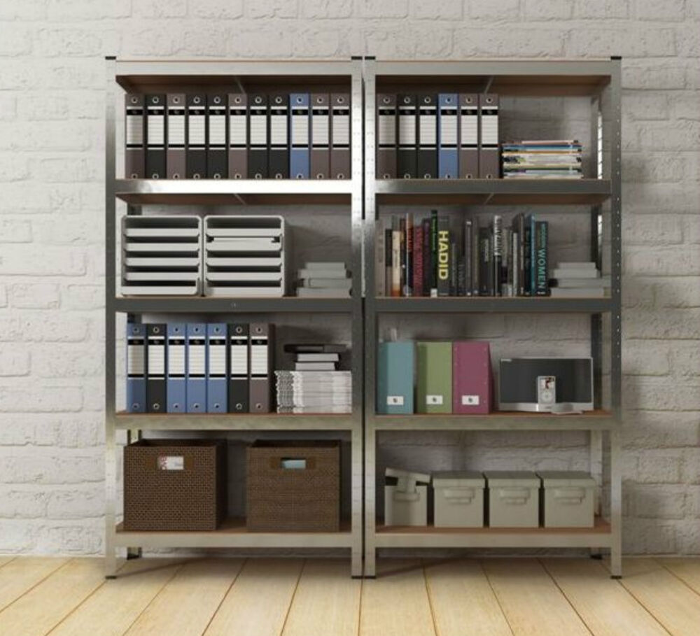 Garage Organization Shelving: Metal Racking Storage Unit Heavy Duty 5 Tier Garage