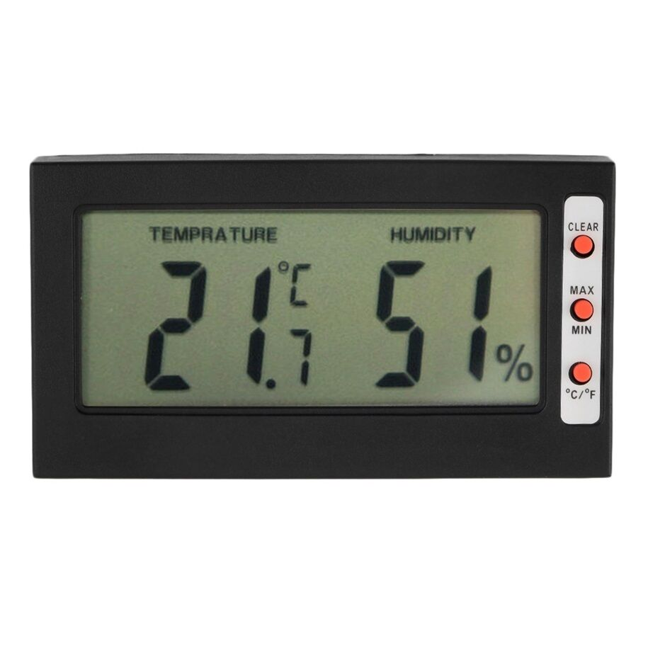 digital lcd thermometer hygrometer max min memory celsius fahrenheit oe ebay. Black Bedroom Furniture Sets. Home Design Ideas