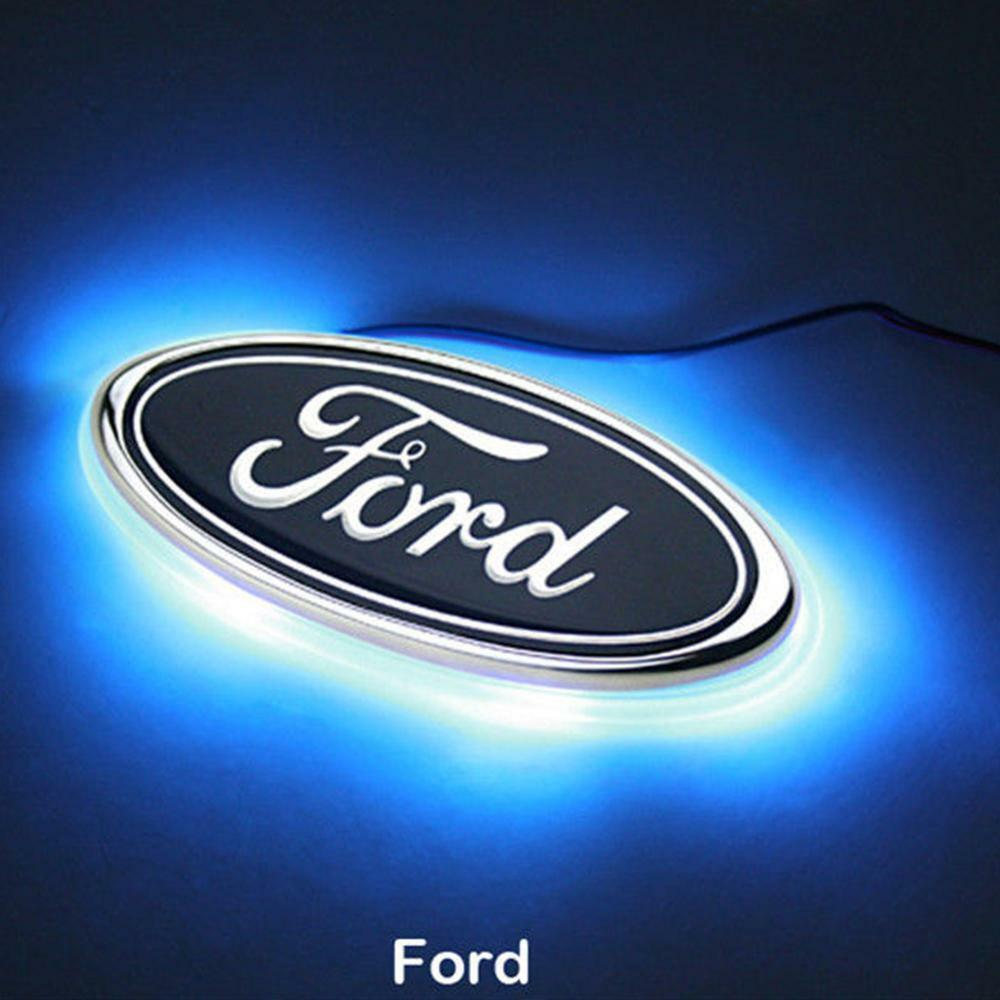Led Car Tail Logo Auto Badge Light Blue Light For Ford