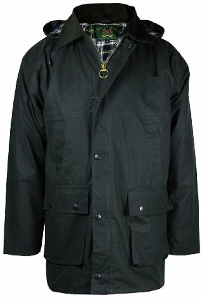Mens New Countryman Padded Cotton Wax Hooded Jacket Top