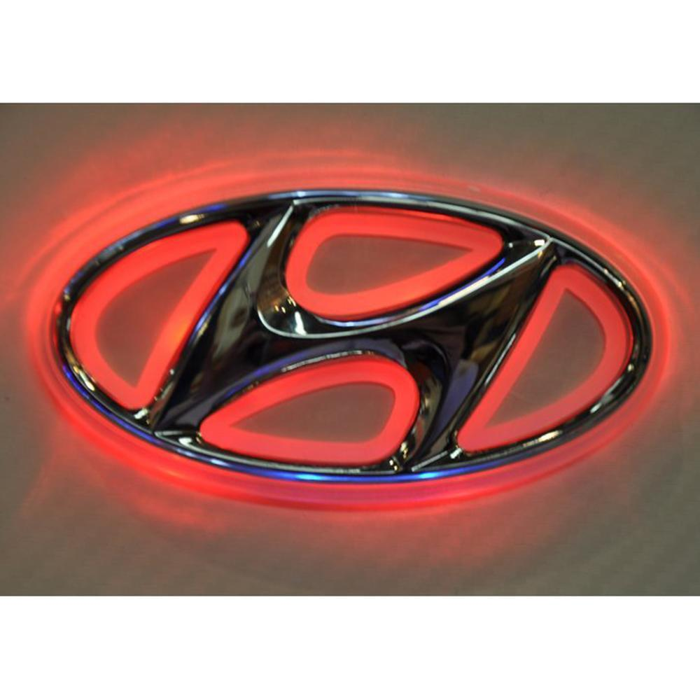 Led Car Tail Logo Auto Badge Light Red Light For Hyundai