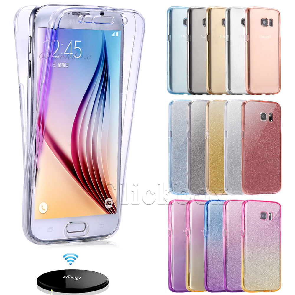 Shockproof 360° Silicone Protective Clear Case Cover For