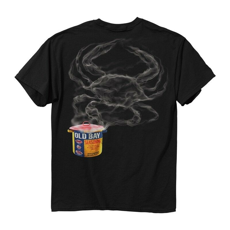 New steam pot smoke crab old bay crab t shirt ebay for South bay t shirts