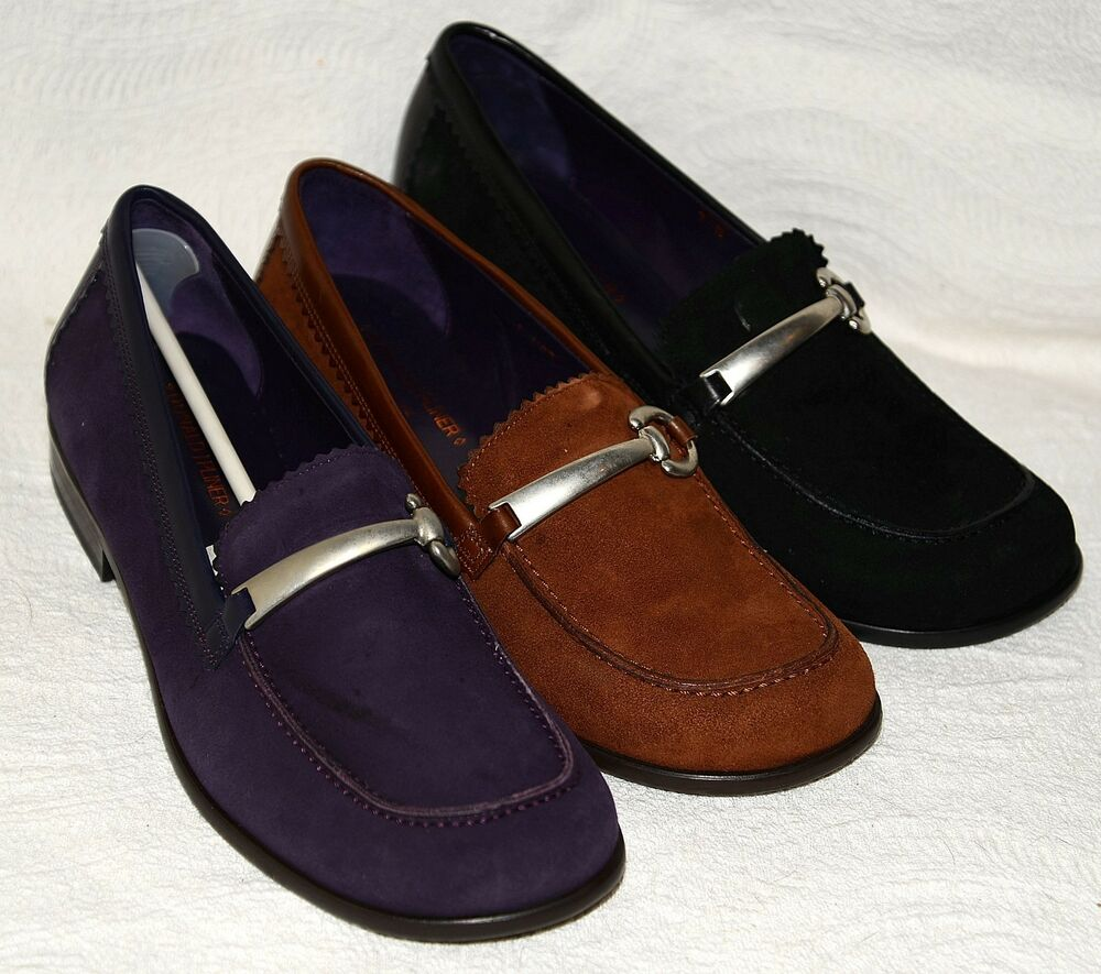 New $295 Donald J Pliner UCB Suede Leather Shoes Loafers D Ring | EBay
