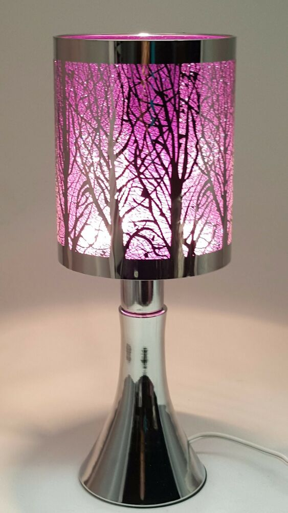 Fragrance Stainless Steel Table Touch Lamp Tree Purple