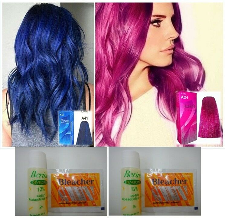 Berina A41 A24 Blue Pink Magenta Hair Color Permanent