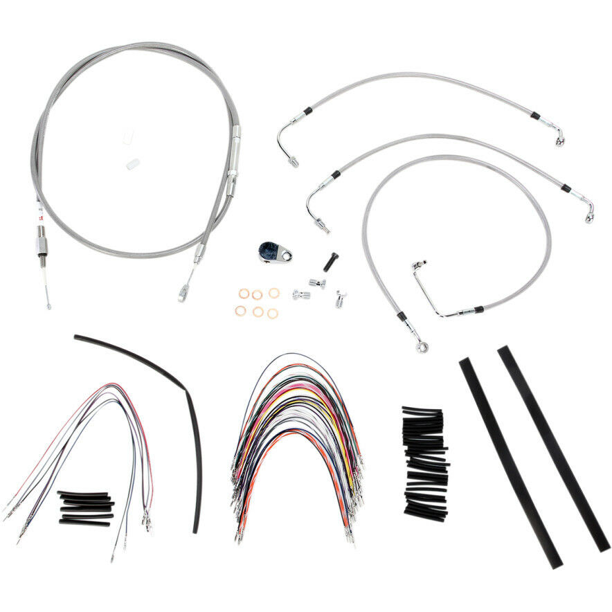 burly 14 u0026quot  stainless ape hanger cable wiring kit 08 o abs